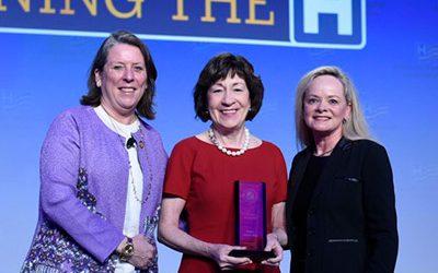 Cary CEO Presents Award to Senator Collins