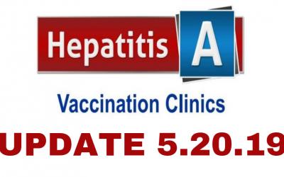 Hepatitis A Vaccine Clinic Update 5.20.19