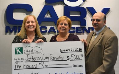 Katahdin Trust Company Presents Major Gift  to the Jefferson Cary Foundation